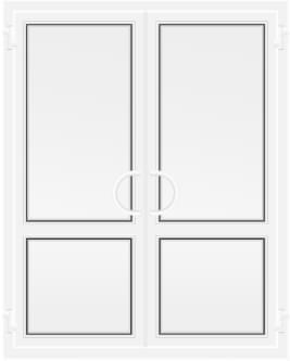 Пластиковая дверь без стеклянных вставок